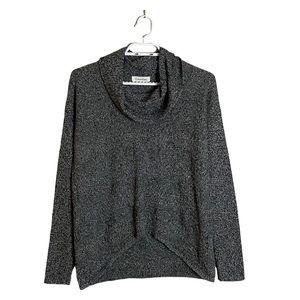 Calvin Klein Women's Gray Marled Cowl Neck Sweater